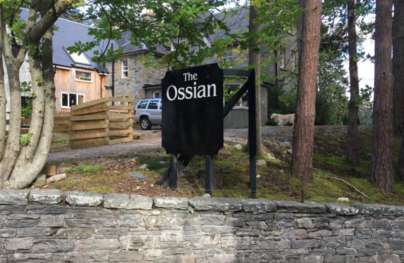 Exterior view of Ossian Hotel.