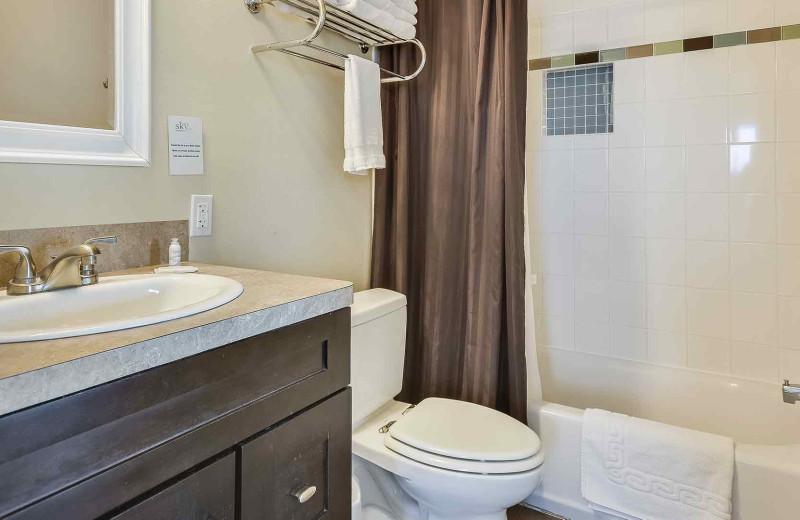 Suite bathroom at Painted Sky Inn.