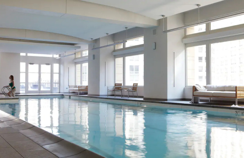 Indoor pool at Park Hyatt Chicago.