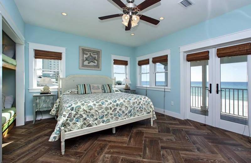 Rental bedroom at Southern Vacation Rentals.