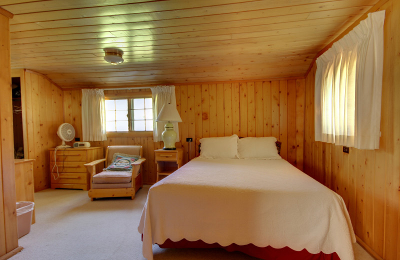 Cabin interior at River Orchard Place.