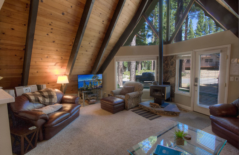 Rental living room at Lake Tahoe Accommodations.