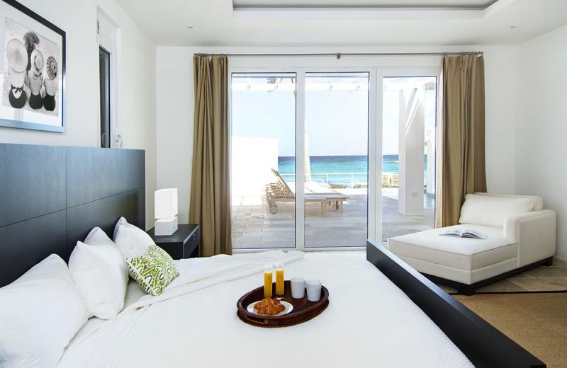 Vacation rental bedroom at Coral Beach Club.