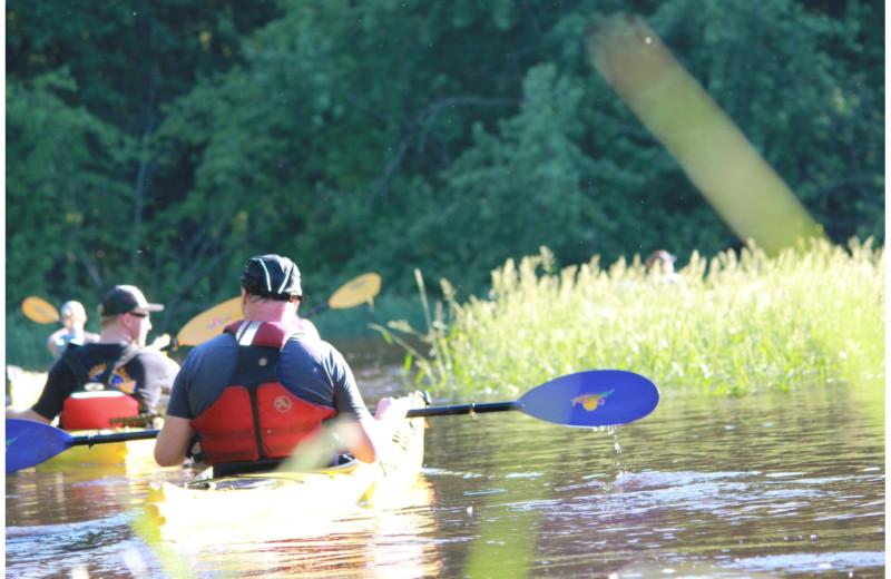 Kayaking at St. James Hotel.