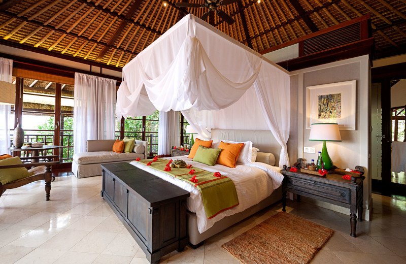 Guest room at Fregate Island.