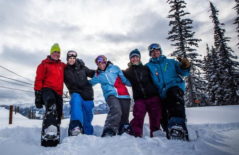 Skiing at Glacier House Resort.