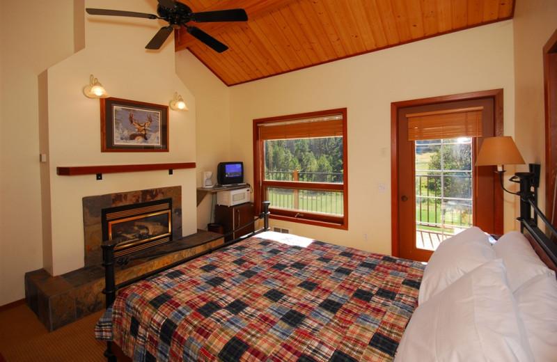 Lodge bedroom at Bear Creek Lodge.