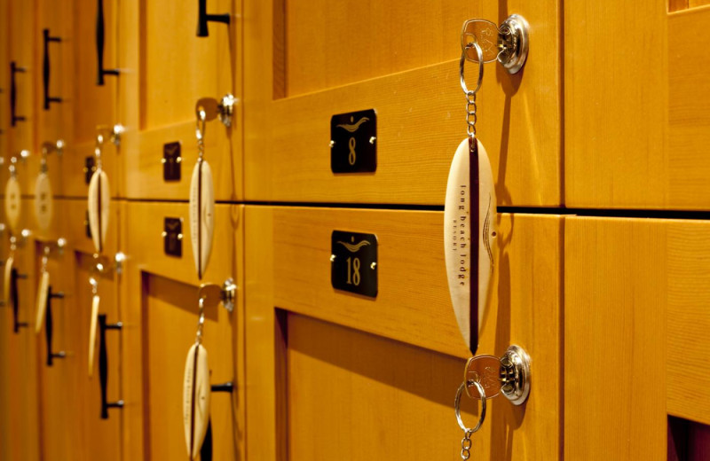 Lockers at Long Beach Lodge Resort.