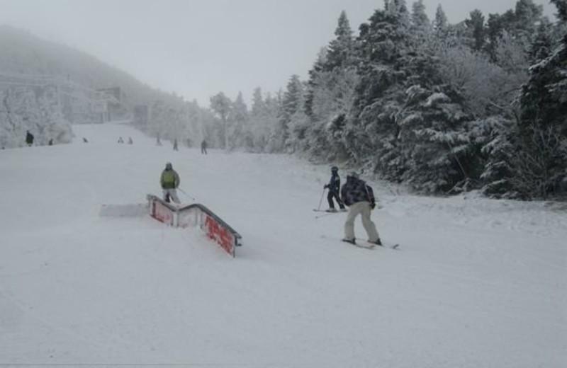 Skiing at Birch Ridge Inn.