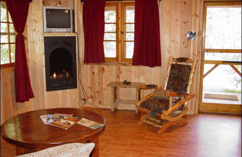 Cabin interior at Shoshone Lodge & Guest Ranch.