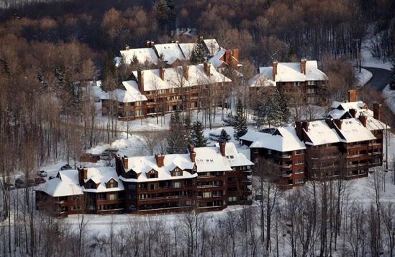 Aerial view of Highridge Condominiums.
