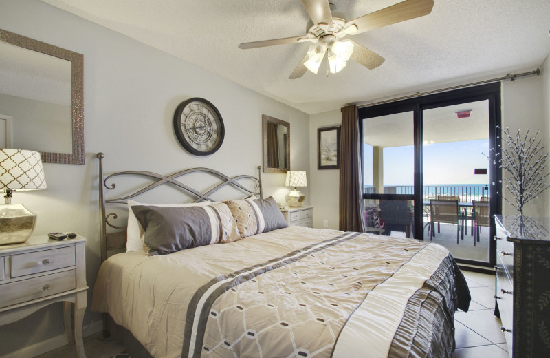 Rental bedroom at Gulf Coast Beach Getaways.