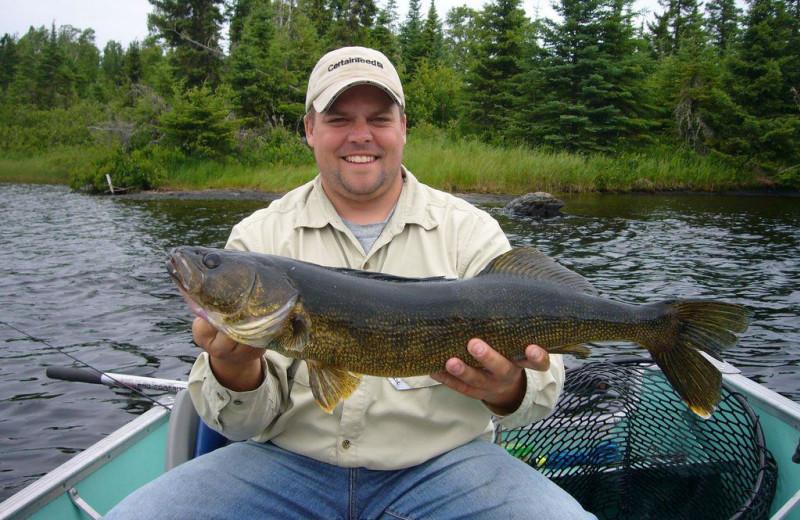 Fishing at Uchi Lake Lodge.