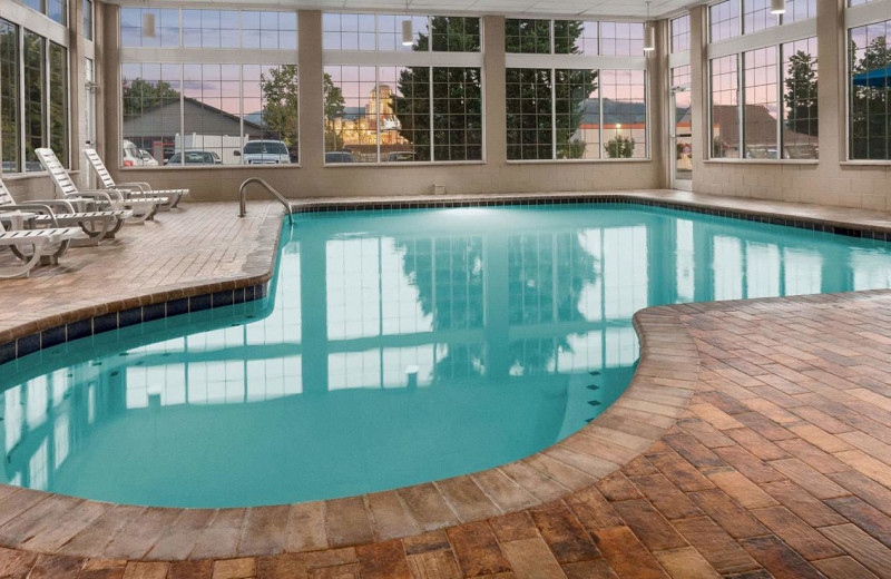 Indoor pool at Ramada Pigeon Forge North.