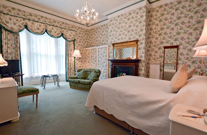 Guest room at Farlam Hall Country House Hotel.
