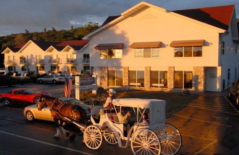 Exterior view of Ephraim Shores Resort and Restaurant.