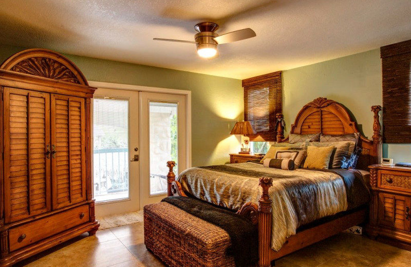 Rental bedroom at Tri Power Resort Rentals.