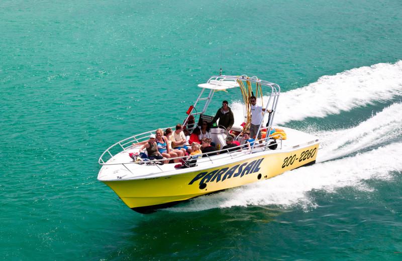Boating at The Islander in Destin.