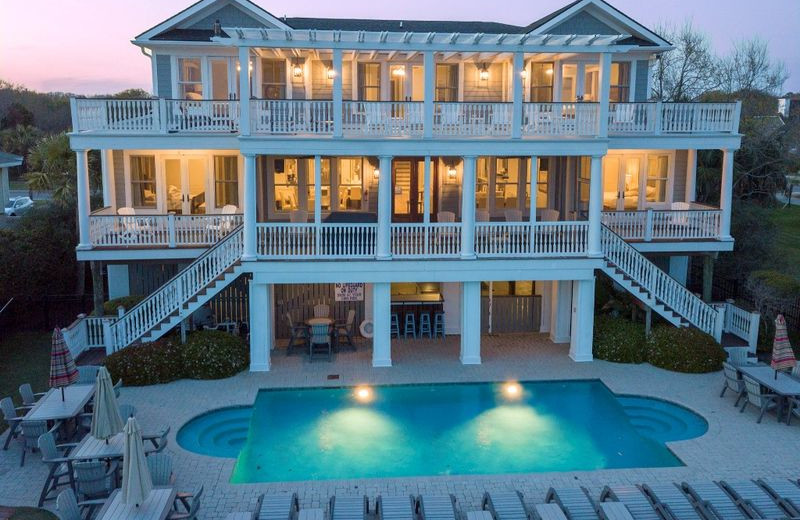 Rental exterior pool at Exclusive Properties - Isle of Palms.