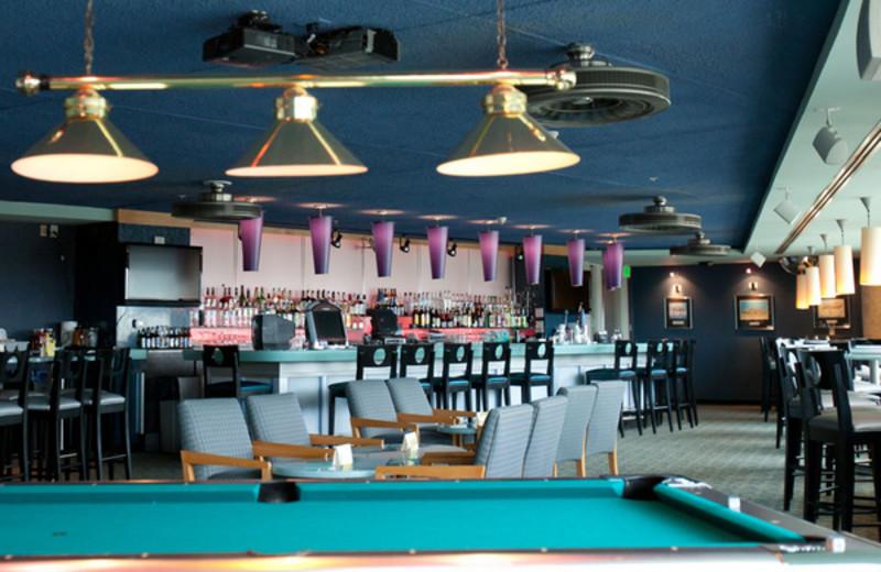 Billiard table at Avista Resort.