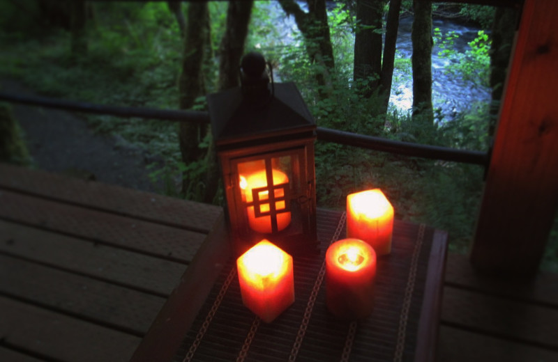 Candles at Zen River Retreat.