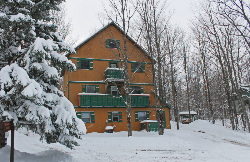 Vacation rental exterior at Big Powderhorn Lodging.