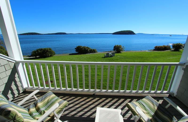Balcony view at Bar Harbor Inn & Spa.