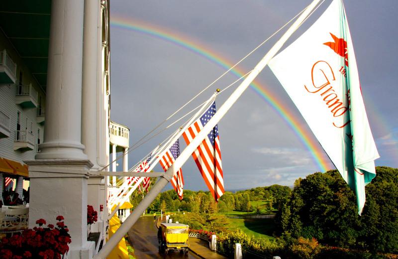 Rainbow at Grand Hotel.