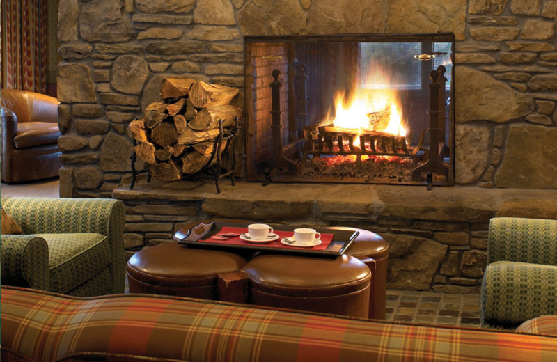 Relax by the fire at Canyon Ranch in Lenox.