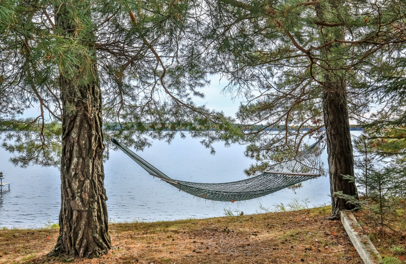 Rental hammock at Hiller Vacation Homes.