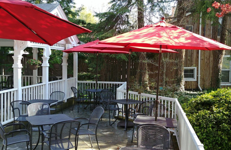 Patio at Kettle Creek Inn & Restaurant.
