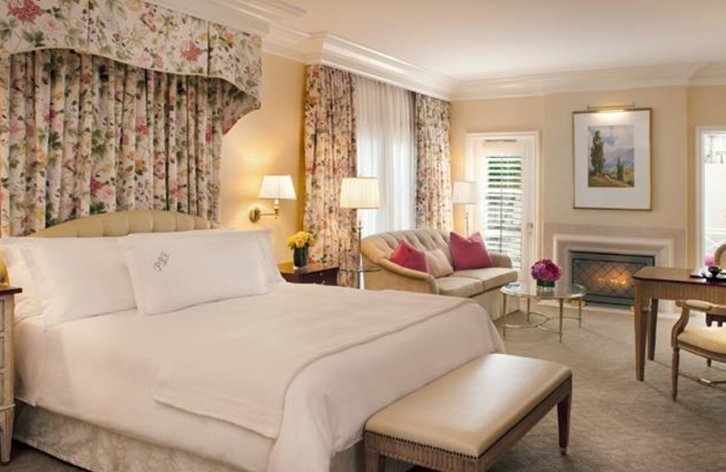 Guest room at The Peninsula Beverly Hills.