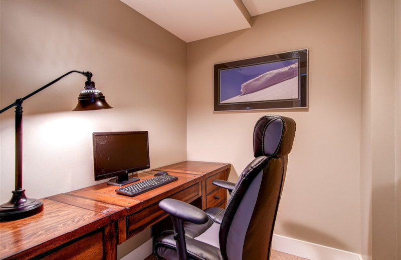Business center at Snowpine Lodge.