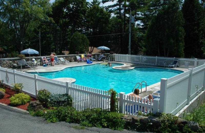 Outdoor pool at The Depe Dene Resort.