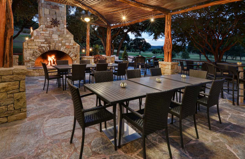 Picnic area at Tapatio Springs Hill Country Resort.