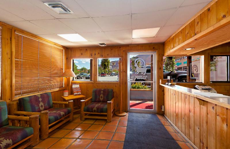 Lobby view at Big Horn Lodge.