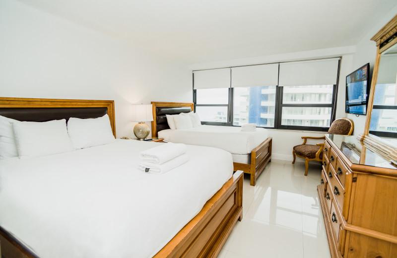 Guest room at The Alexander All Suite Oceanfront Resort.