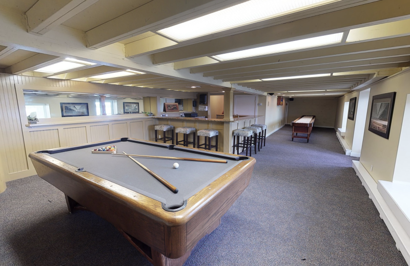 Rec room at BoatHouse Villa.