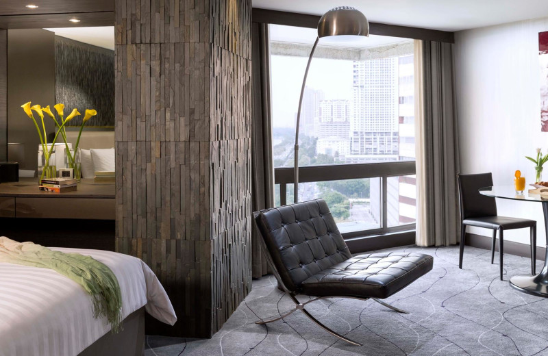 Guest room at The Hotel Jen Manila.
