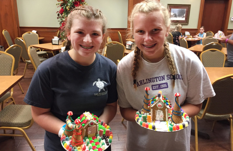 Gingerbread house  decorating at The Inn at Christmas Place.