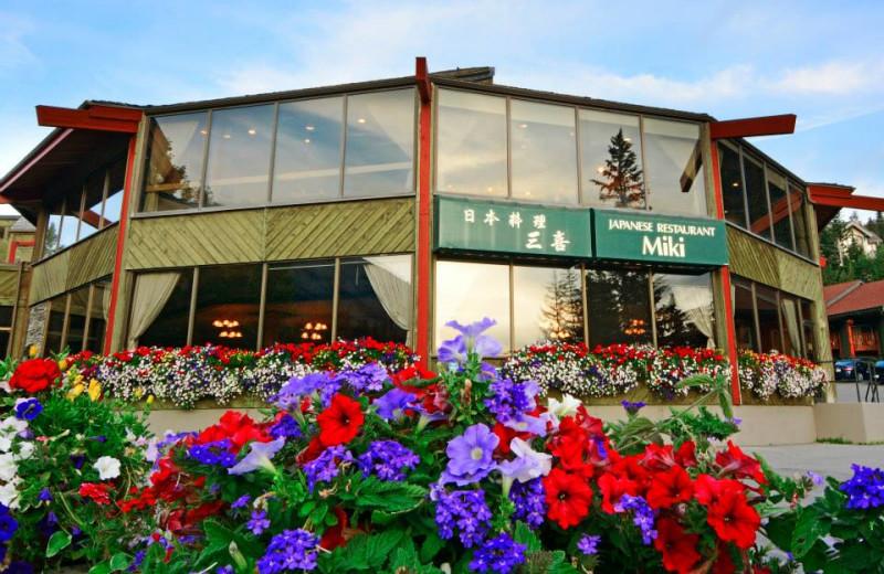 Restaurant exterior at Inns of Banff.