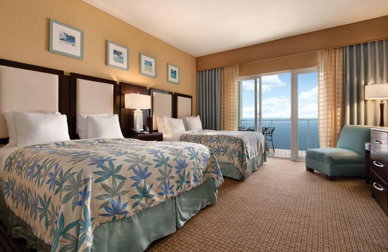 Oceanfront suite at Hilton Suites Ocean City Oceanfront.