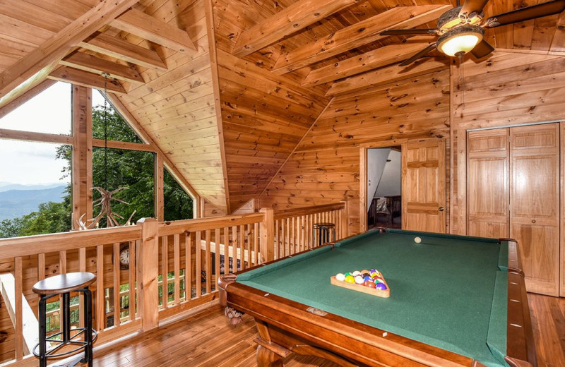 Cabin loft at Smoky Mountain Retreat Realty.