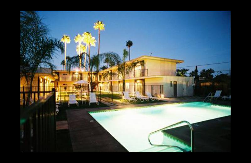 Outdoor pool at 7 Springs Inn & Suites.