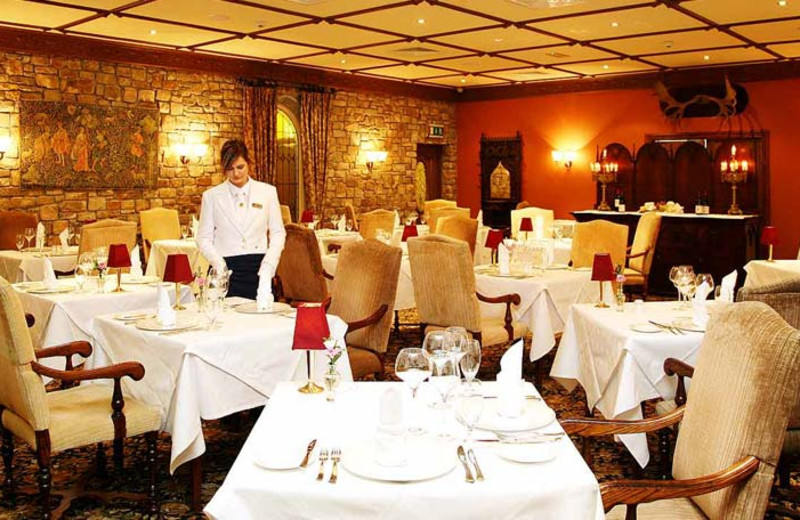 Dining at Lough Rynn Castle Hotel & Estate.
