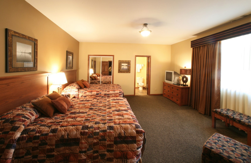 Guest room at Arrowwood Resort.