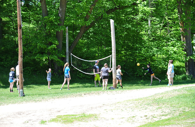 Volleyball at Upper Cullen Resort.