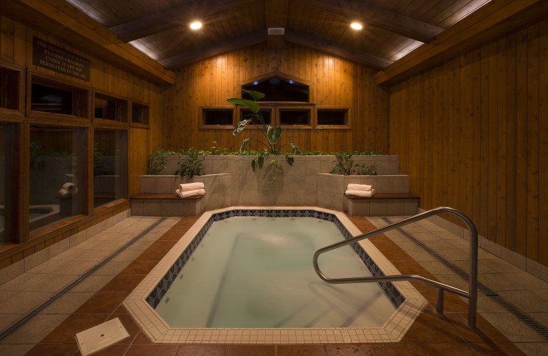 Sit back and relax here, let the stress out in our amazing hot tub.