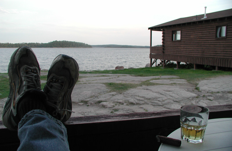 Lake view at Maynard Lake Lodge and Outpost.