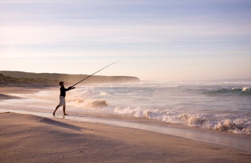 Fishing at Alouette Beach Resort.